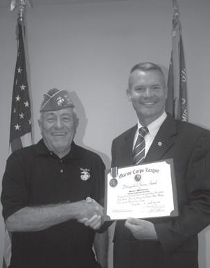 Milburn gets Distinguished Service Award   Houghton Lake