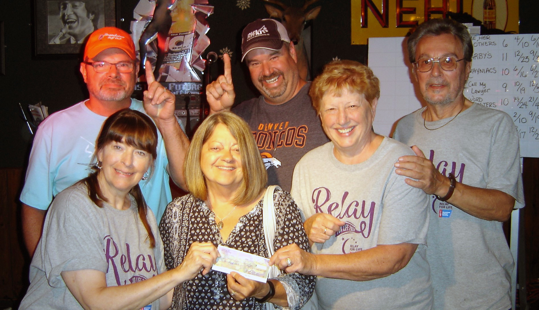 Andy Holland wayniacs' win relay for life trivia night on wager