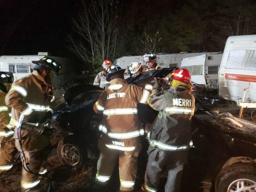 Merritt, Lake fire departments hold joint extrication training - Houghton Lake resorter
